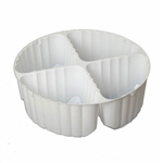 4 Cavity Tin Insert for 5C Round Tins - 72 Inserts/Pack
