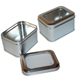 Small Rectangle Tin Boxes with Windows