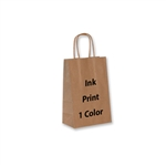 1 Color Ink Printed Toucan Kraft Paper Shopping Bag