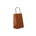 "Copper Kraft Paper Shopping Bags: 5-1/4"" x 3-1/2"" x 8-1/4"" - 250 Bags"