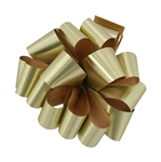 Gold Metallic Tone Pre-Notched Bows
