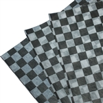 Waxed Tissue Paper Food Sheets - Bistro Checks, black and white (5000 Sheets)