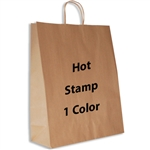 1 Color Hot Stamped Zebra Kraft Paper Shopping Bag