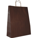 Chocolate Brown Zebra (Large) Paper Shopping Bags