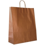 "Copper Paper Shopping Bags - Zebra 16 x 6  x 19-1/4"" - 200 Bags"