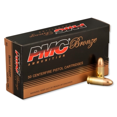 PMC 9mm Ammo - FMJ 124 Grains - 50 Rounds