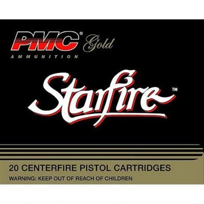 PMC 9mm Gold Starfire Ammo - JHP 124 Grains - 20 Rounds