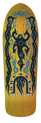 Santa Cruz Dressen Tribal Reissue Skateboard Deck - 9.9