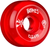 Bones Clears SPF Skateboard Wheels Clear Red - 56mm