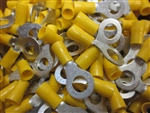 12-10 AWG YELLOW RING TERMINAL 5/16 STUD