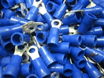 16-14 AWG INSULATED BLUE RING TERMINAL #6 STUD