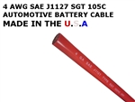 SGT 4 AWG BATTERY CABLE RED