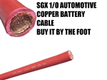SGX 1/0 AUTOMOTIVE BATTERY STARTER WIRE RED