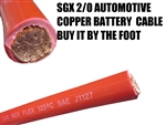 SGX XLPE 2/0 RED POWER CABLE