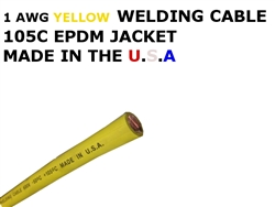 1 AWG WELDING CABLE YELLOW
