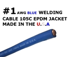 1 AWG WELDING CABLE BLUE