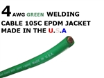 4 AWG GREEN WELDING CABLE
