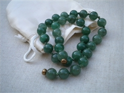 Emerald Matrix Beads