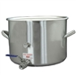 Polar Ware Stainless Steel Brew Pot - 10.5 Gal. (42 qt.) w/ Ball Valve & Thermometer Plug  |  love2brew.com