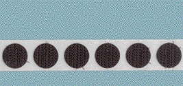 "VELCOIN® Brand Adhesive Backed 1/2"" Loop Coins- Roll of Black"