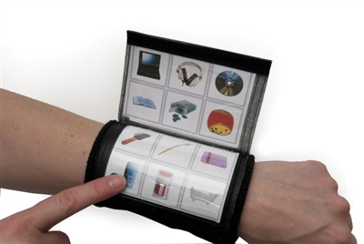 Flip and Communicate Wrist Wrap
