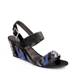 "Crystal-491 Covered Wedge Sandal in ""Untitled"" by Pablo Picasso"