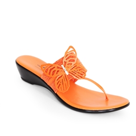 "Dezario ""Free"" Butterfly Thong Orange"