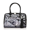 "Dory-478 Two Pocket Satchel in ""Zebra Stripes"" by Icon Artists"
