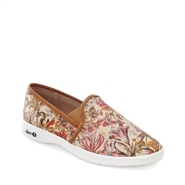 "Jessie-488 Leather Loaf w/Rubber Sole in ""Monthly Bouquet"" by Robert Furber"