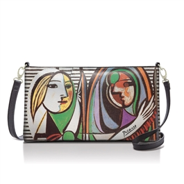 """Girl with a Mirror"" <br><b>KATY-495</b><br>&nbsp;Small Crossbody / Wristlet"