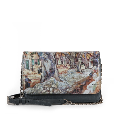 "Neva-483 Crossbody Wallet Bag in ""Tree Lane"" by Vincent Van Gogh"