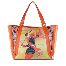 "Zippy-480 Large Tote with 4 Zippers in ""Chemins de Fer"" by Leonetto Cappiello"