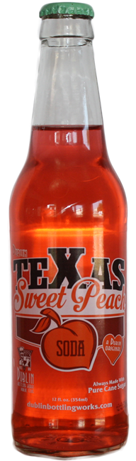 Dublin Texas Sweet Peach Soda Glass Bottle Case