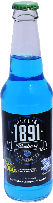 Dublin 1891 Blueberry Soda Glass Bottle Case