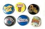 6 pinback buttons - The Beer Run 2017