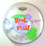 Autographed drum head used by band - v2