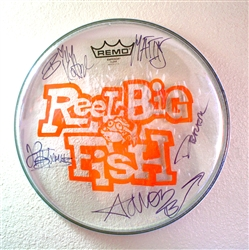 Autographed drum head used by band - v3