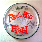 Autographed drum head used by band - v5