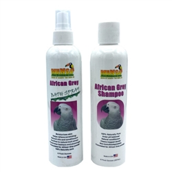 African Grey Shampoo & Bath Spray Set - 8 oz each