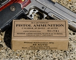 .45 ACP ( 45 Auto ) Ammunition 230 grain TMJ RN New Brass Premium Clean Powder. Per 50.