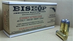 Bishop New .45 Colt Ammunition, Cowboy Action Load, 250 grain RNFP Lead, New Brass -  Made in the U.S.A. Per 50.