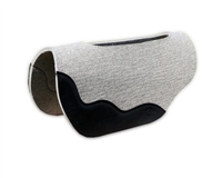 "1/2"" Gray Wool Felt Saddle Pad"