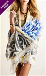 Ananda by Erika Falconeri Handpainted IKAT Wrap
