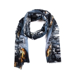 ShawLux Times Square Taxis Scarf
