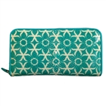 VIVO Studio Genuine Shagreen Full Size Zip Wallet – Flora Print