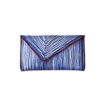 Kent Stetson Blue Topographic Clutch