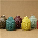 GreenTree Home Candle - Small Buddha Heads