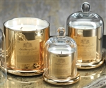 Zodax Apothecary Guild Scented Candle Jar with Glass Dome - Gold / Medium