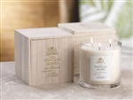 Zodax Chateau Agnes Scented Three-Wick Candle Jar in Wooden Crate - Pinot Grigio & Chardonnay