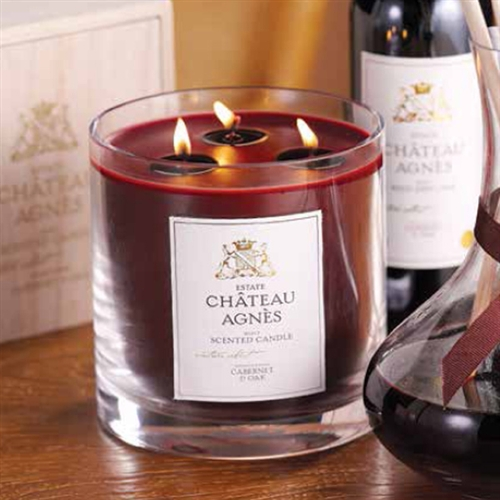 Zodax Chateau Agnes Scented Three Wick Candle Jar In